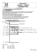 TPP6 Interaction lumière matière (Correction)