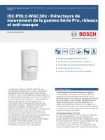 ISC-PDL1-WAC30x - Détecteurs de mouvement de la gamme Série
