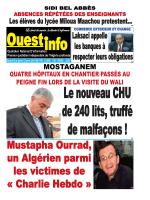 Vendredi 09 et Samedi 10 Janvier 2015 - Ouest-info