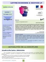ACTUALITÉS DE LA DISCIPLINE Sommaire - CREG