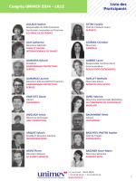 Congrès UNIMEV 2014 - LILLE Liste des Participants