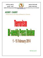 Bi-weekly Press Review 1-15 February 2014