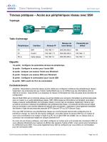 Travaux pratiques – Accès aux périphériques réseau avec SSH