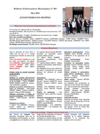 Bulletin n° 184 - mai 2014