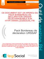 Pack Bordereau de déclaration URSSAF