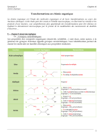 Transformations en chimie organique 1