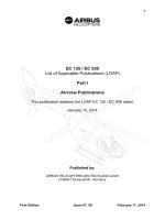 EC 135 / EC 635 List of Applicable Publications (LOAP) Part I