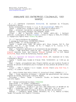 Annuaire des entreprises coloniales 1951-Maroc
