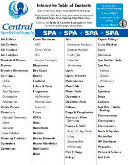 spa - Central Spa Supply