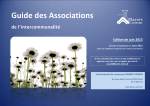 Guide des Associations - Communauté de communes Barrès