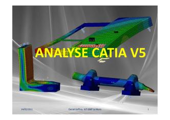 ANALYSE CATIA V5