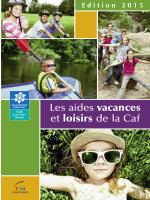 livret vacances et loisirs 2015