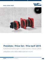 Preisliste / Price list / Prix-tarif 2015 - Hauff