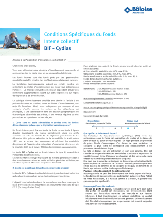 BIF - Finotheker Strategy 1