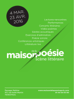 mars - Maison de la Poésie