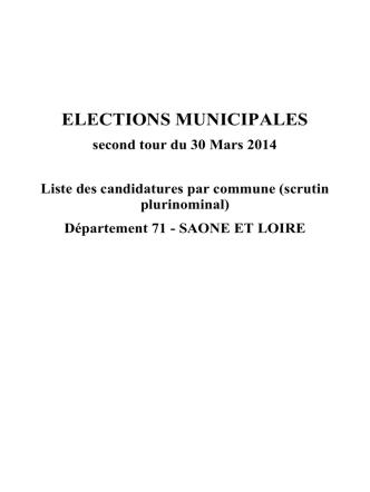 Consulter la liste des candidats en Saône-et