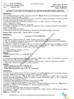 Devoir n°3 - 1S2 - LSLL - Physique Chimie au lycée par Wahab