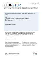 Effective Virtual Teams for New Product Development