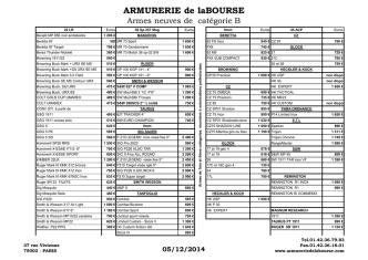 ARMURERIE de laBOURSE