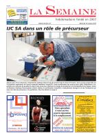 IJC SA dans un rôle de précurseur