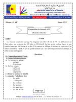 examen 3 francais 2014 5AP T2
