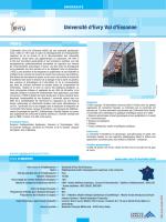 Université d`Evry Val d`Essonne - Evry