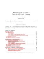 Révisions pour les oraux Classe de MP, lycée Cézanne.