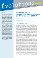 L`usage de la cigarette électronique en France en 2014