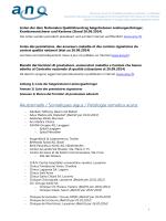 Beitrittsliste zum nationalen Qualitätsvertrag Anhang 1-3