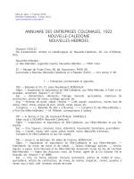Annuaire des entreprises coloniales 1922-Nouvelle