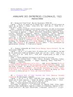 Annuaire des entreprises coloniales 1922