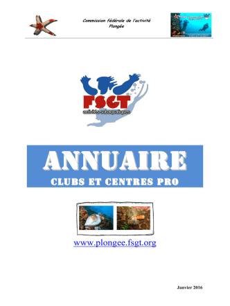 Annuaire des clubs et CPP