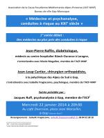 « Médecine et psychanalyse, conduites à risque au XXI° siècle