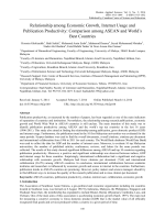 Relationship among Economic Growth, Internet Usage and Publication Productivity: Comparison among ASEAN and World's Best Countries