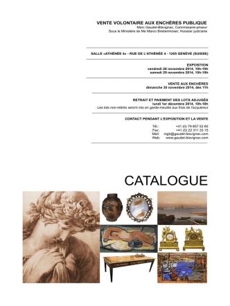CATALOGUE - Blavignac