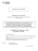 Madame Rute VICENTE - Université de Genève