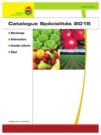 Catalogue spécialités en pdf