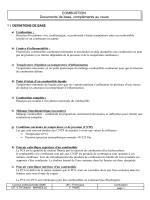 COMBUSTION Documents de base, compléments au cours