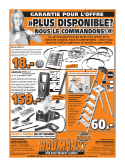 plus disponible? - GLOBUS BAUMARKT