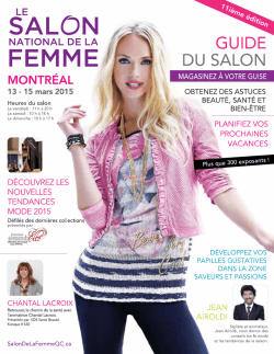 Guide du salon 2015 - Le salon national de la femme