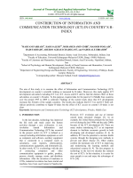 Contribution of Information and Communication Technology (ICT) in Country'S H-Index
