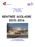 Bulletin de rentrée parents - Lycée français de Valence