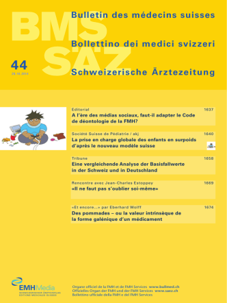 Bulletin des médecins suisses 44/2014