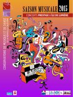 2015 SAISON MUSICALE - Conservatoire de musique et de danse