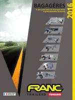Remorques bagagères FRANC 2016