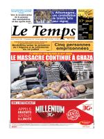 LE TEMPS D ALGERIE DU 15.07.2014
