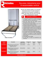 Nouveau mécanisme pour lit escamotable vertical