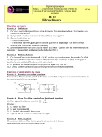 TD13 Filtrage linéaire