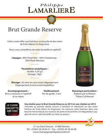 Brut Grande Reserve PL - Champagne Philippe Lamarliere