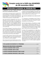 Lire le compte rendu de la CAPA du 26.11.14 - SNASUB-FSU